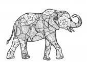 Elephant silhouette — Stock Vector