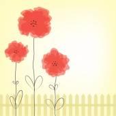 Poppy flowers — Stock Vector