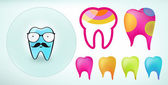 Teeth icons — Stock Vector