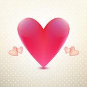 Красное сердце карта — Cтоковый вектор