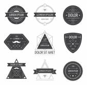 Black and white hipster labels — Vector de stock