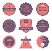 Set of hipster retro labels — Stock Vector