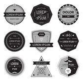 Set of abstract hipster labels — Stock Vector