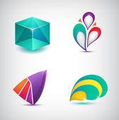 Abstract colorful icons — Cтоковый вектор