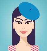 Girl in beret — Stock Vector