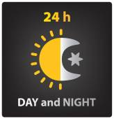 Day and night icon — Stock Vector