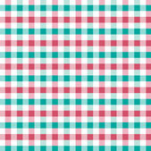 Red and green squared fabric — Stock Vector