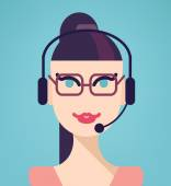 Support phone operator — Stock Vector