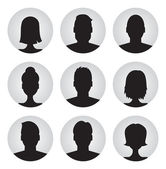 Men and women profile icons — Vector de stock
