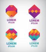 Geometric logos for company — Vector de stock