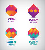 Geometric logos for company — Stock Vector