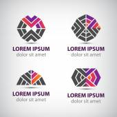 Iconos abstractos o logotipos — Vector de stock