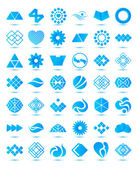 Geometrical abstract icons — Vettoriale Stock
