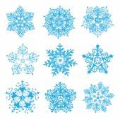 Snowflakes silhouettes — Stock Vector
