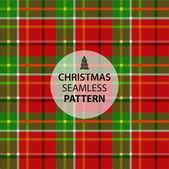 Christmas squared tartan fabric — Stock Vector