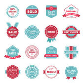 Set of retro labels — Stock Vector