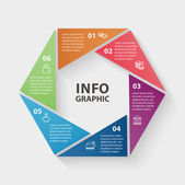 Loop geometric  infographics — Stock Vector