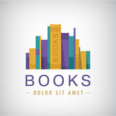 Books icon, logo — Stock vektor