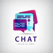 Abstract chat logo — Stock Vector