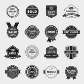 Black and white retro labels — Stock Vector