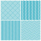 Set of chevrons seamless patterns — Stock Vector