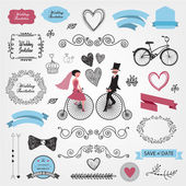 Wedding invitation design elements — Stock Vector