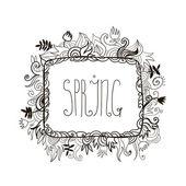 Doodle swirl frame — Stock Vector