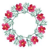 Watercolor floral wreath — Stock Vector