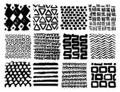 Textures made by ink — Stock Vector