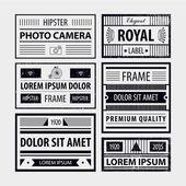 Set of modern hipster frames — Stock Vector