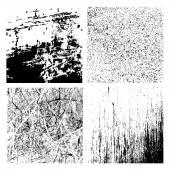 Grunge textures setg — Stock Vector