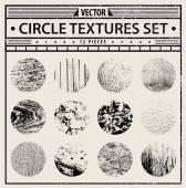 Grunge textures set — Stock Vector