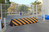 Security barrier and security gates — Stock Photo