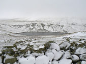Snowy góry sceny — Zdjęcie stockowe