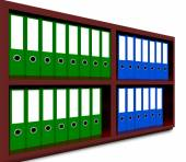 Row of Coloured office binders — Stock Photo