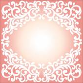 Vector ornament in Victorian style. Ornate baroque element for design, floral decoration. Ornamental lace pattern for wedding invitations, greeting cards. — ストックベクタ
