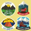 Set of camping emblems and labels — Stock Vector #74748907