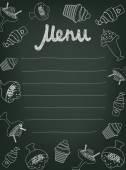 Hand drawn menu for cafe — Stockvektor