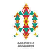 Geometric contrast ornament — Stock Vector