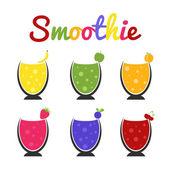 Ποτηράκια μιας υγιή smoothie — Διανυσματικό Αρχείο