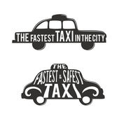 Typographic poster with taxi — Stock Vector