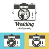 Labels or emblems for photo studios and photographers — Stock Vector