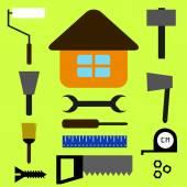 Home repairing tools — Stock Vector