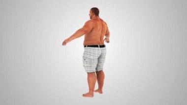 Fat Man Weight Loss. Fat to Slim transformation — Vidéo