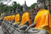 Buddha statue at wat Yai Chai Mongkol  , Thailand — Fotografia Stock