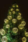 Vánoční stromeček s ozdobami — Stock fotografie