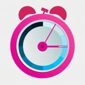 Pink alarm clock — Stock Vector