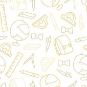 Doodle seamless pattern with school object — 图库矢量图片