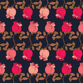 Roses decorative horizontal repeating line seamless pattern — 图库矢量图片