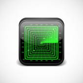 Radar icon for mobile and web apps. — Stockvector